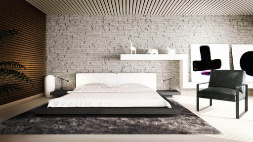Modloft Bed Worth Eco-Leather Platform Bed - Available in 5 Colors and 3 Sizes
