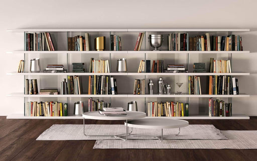 Modloft Office Glossy White Beekman Bookcase
