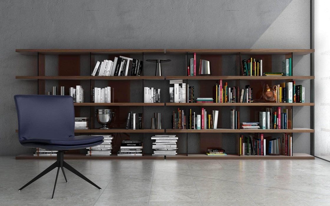 Modloft Office Walnut Beekman Bookcase
