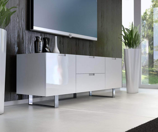 Modloft Cabinet Glossy White Eldridge Media Cabinet
