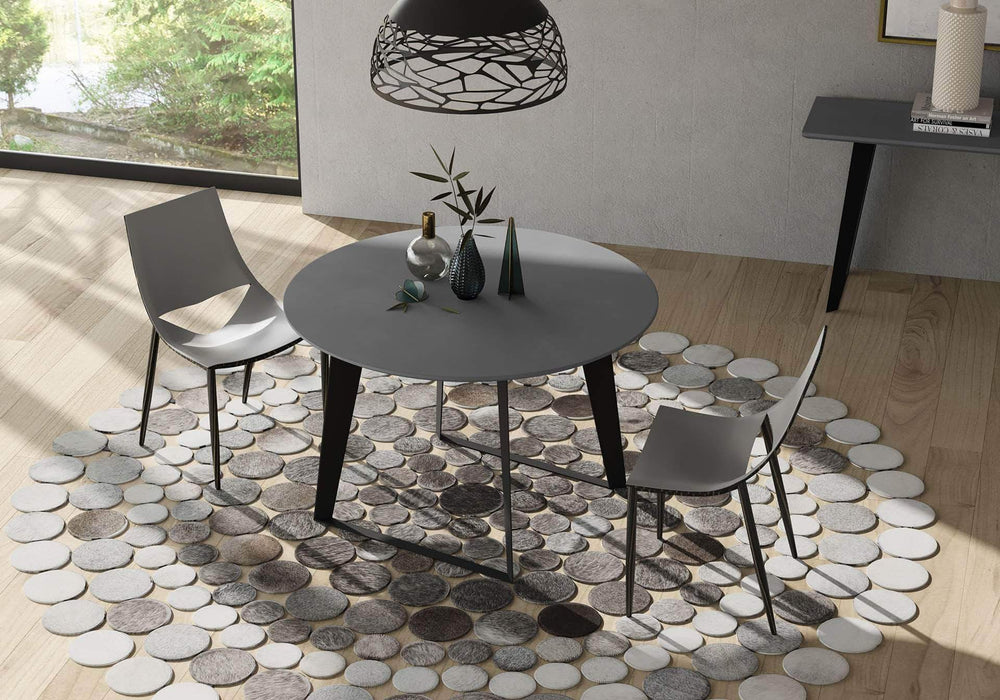 "Modloft Dining Table in Grey Concrete Amsterdam 47"" Dining Table"