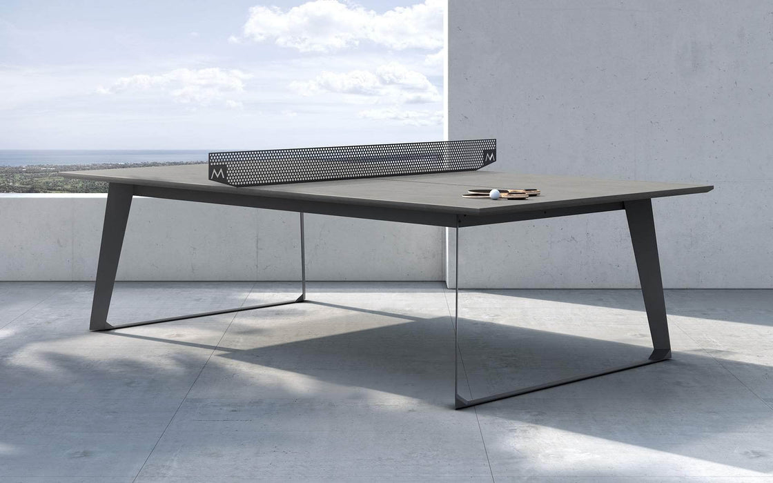 Modloft Ping Pong Table Gray Concrete Amsterdam Outdoor Ping Pong Table - Available in 2 Colors