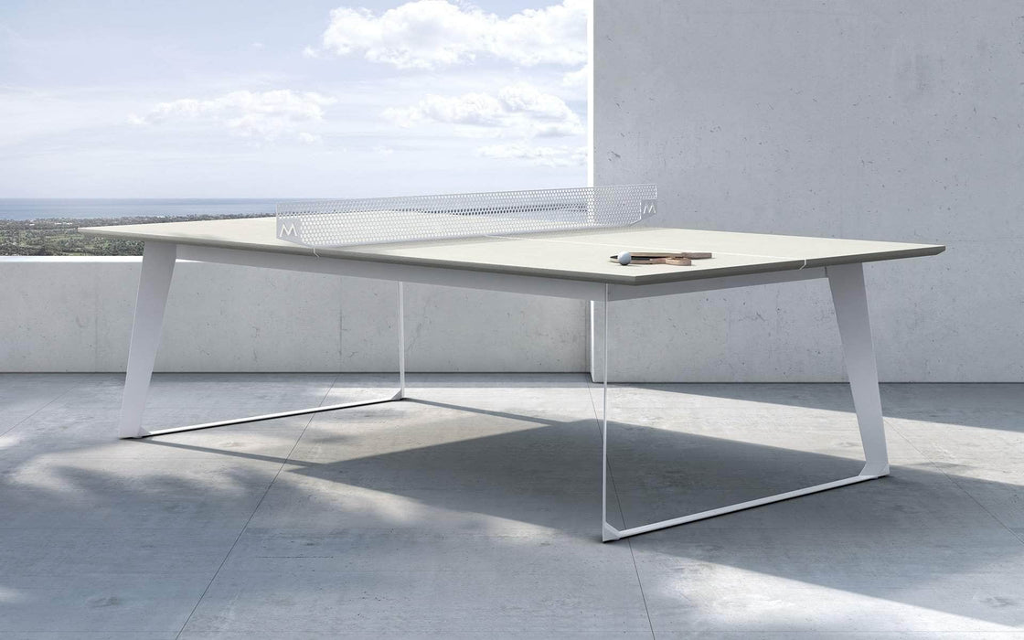 Modloft Ping Pong Table White Sand Concrete Amsterdam Outdoor Ping Pong Table - Available in 2 Colors