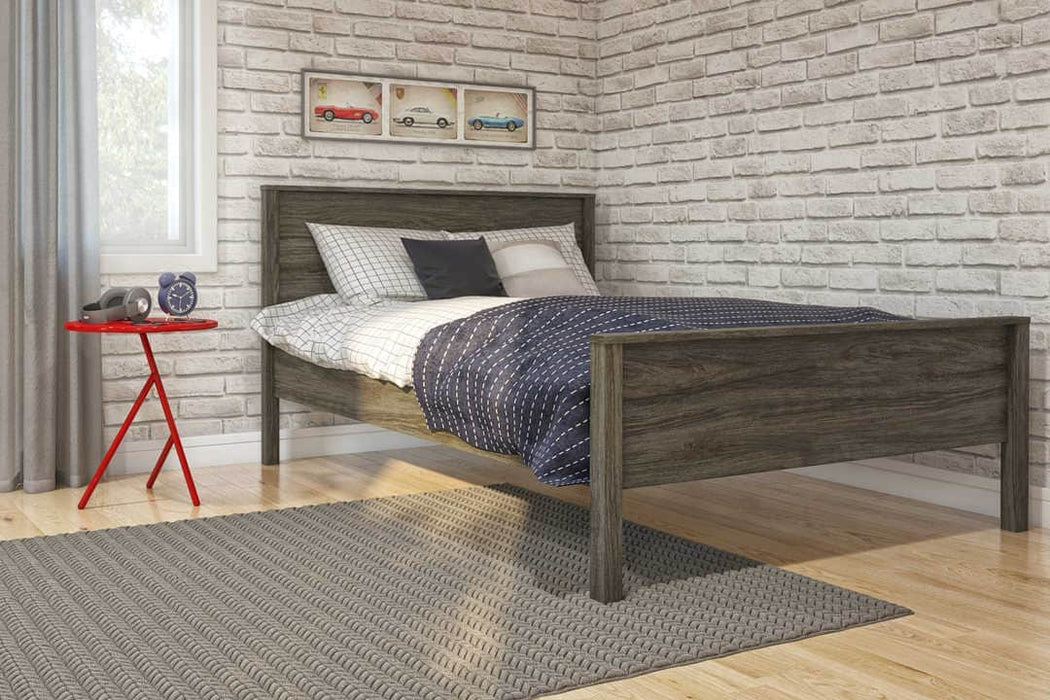 Modubox Bed Full / Walnut Grey Capella Platform Bed - Available in 2 Sizes and 3 Colors
