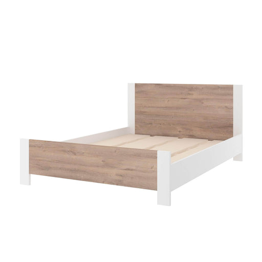Modubox Bed Sirah Full Platform Bed - Rustic Brown & White