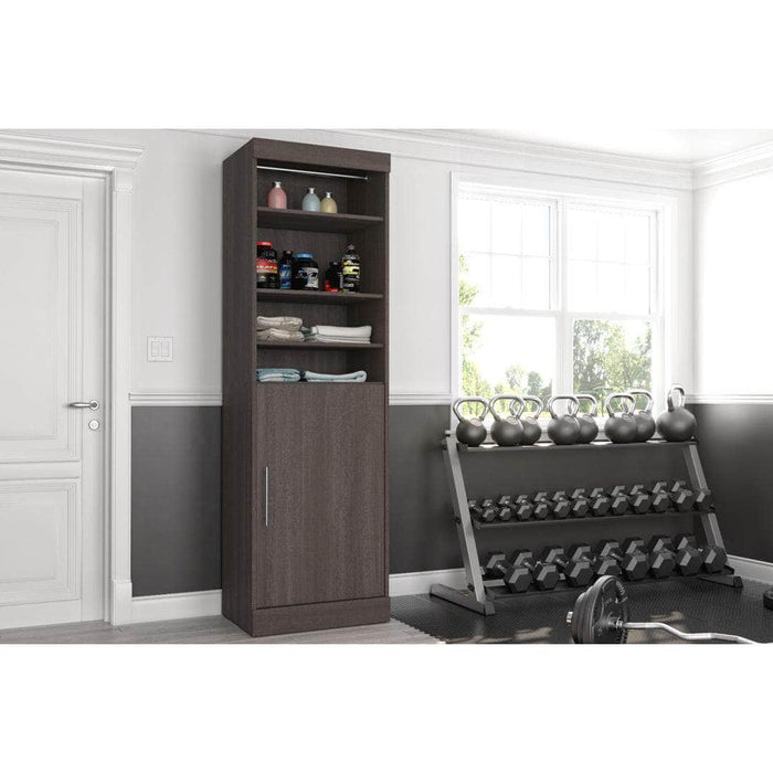 "Modubox Bookcase Nebula 25"" Storage Unit in Bark Grey and White"
