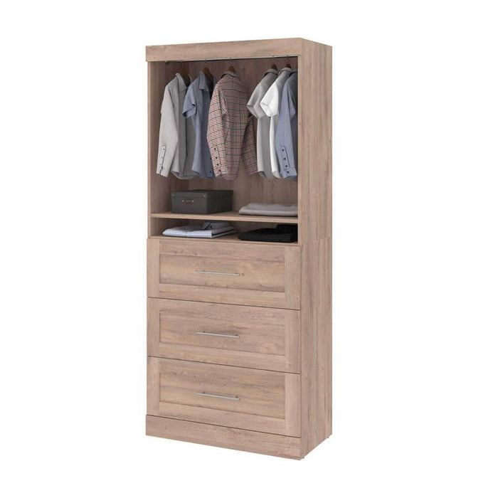 "Modubox Bookcase Rustic Brown Pur 36"" Storage Unit with 3 Drawers - Available in 4 Colours"