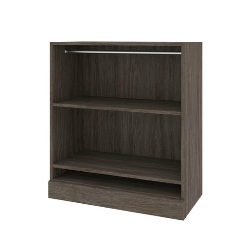 Modubox Bookcase Walnut Grey Versatile Low Storage Unit With Rod - Available in 2 Colours