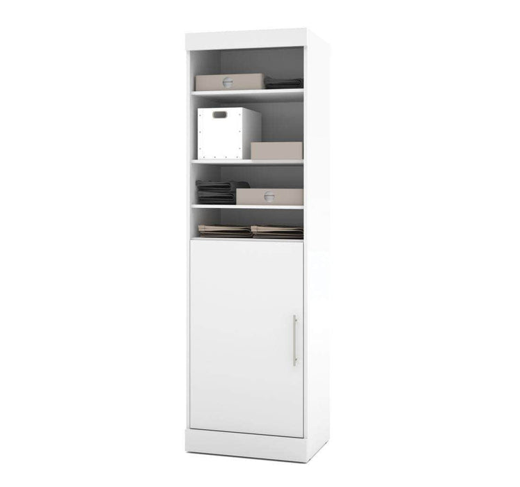 "Modubox Bookcase White Nebula 25"" Storage Unit in Bark Grey and White"