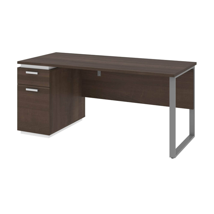Modubox Desk Aquarius Desk with Single Pedestal - Antigua & White