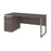 Modubox Desk Aquarius Desk with Single Pedestal - Bark Grey & White