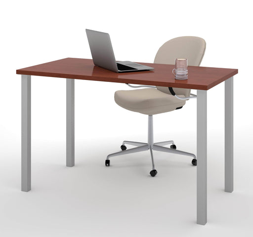"Modubox Desk Bordeaux Universel 24"" x 48"" Table Desk with Square Metal Legs - Available in 10 Colours"