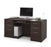 Modubox Desk Dark Chocolate Embassy Traditional Executive Desk with 2 Pedestals - Dark Chocolate