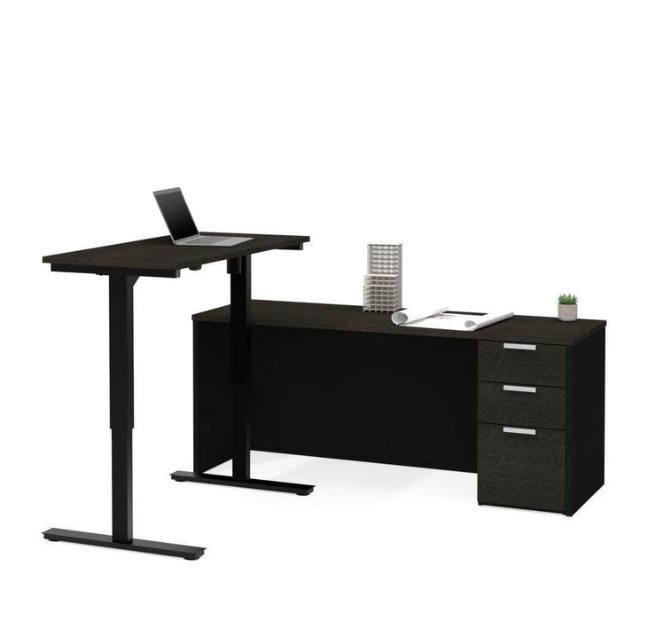 Modubox Desk Deep Grey & Black Pro-Concept Plus 2 Piece Set Including a Standing Desk and a Desk - Available in 2 Colours