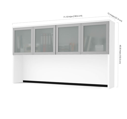 Modubox Desk Hutch Pro-Concept Plus Desk Hutch with Frosted Glass Doors - Available in 2 Colors