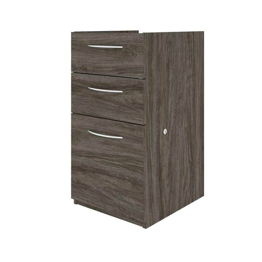 Modubox Desk Pedestal Walnut Grey Embassy Add-On Pedestal with 3 Drawers - Available in 2 Colours