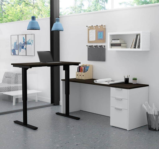 Modubox Desk Pro-Concept Plus 2 Piece Set Including a Standing Desk and a Desk - Available in 2 Colors