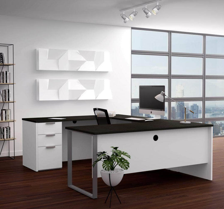 Modubox Desk Pro-Concept Plus U-Shaped Desk with Pedestal - Available in 2 Colors