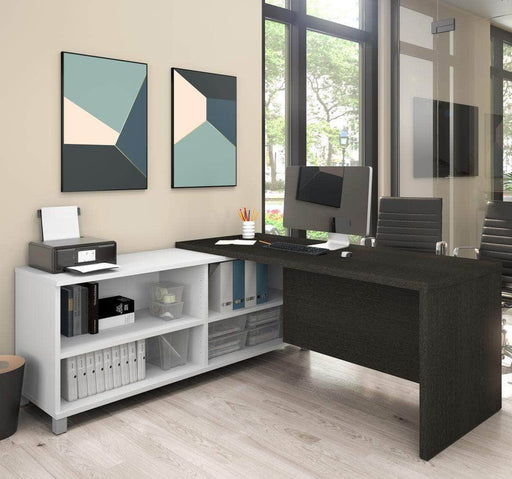 Modubox Desk Pro-Linea L-Shaped Desk - Bark Grey & White