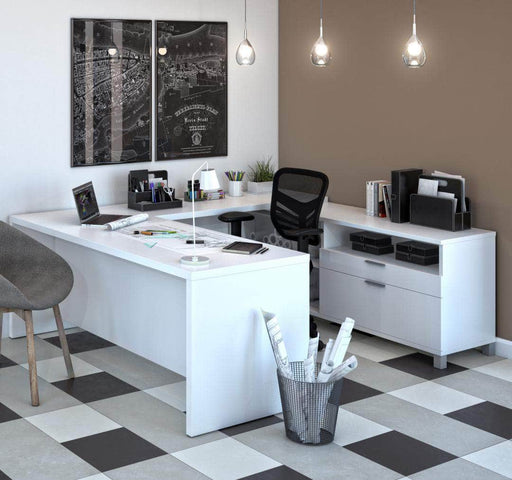 Modubox Desk Pro-Linea U-Shaped Desk - Available in 3 Colors