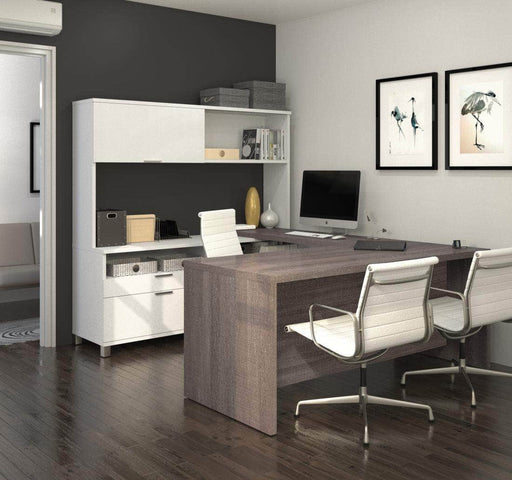Modubox Desk Pro-Linea U-Shaped Desk with Hutch - Available in 2 Colors