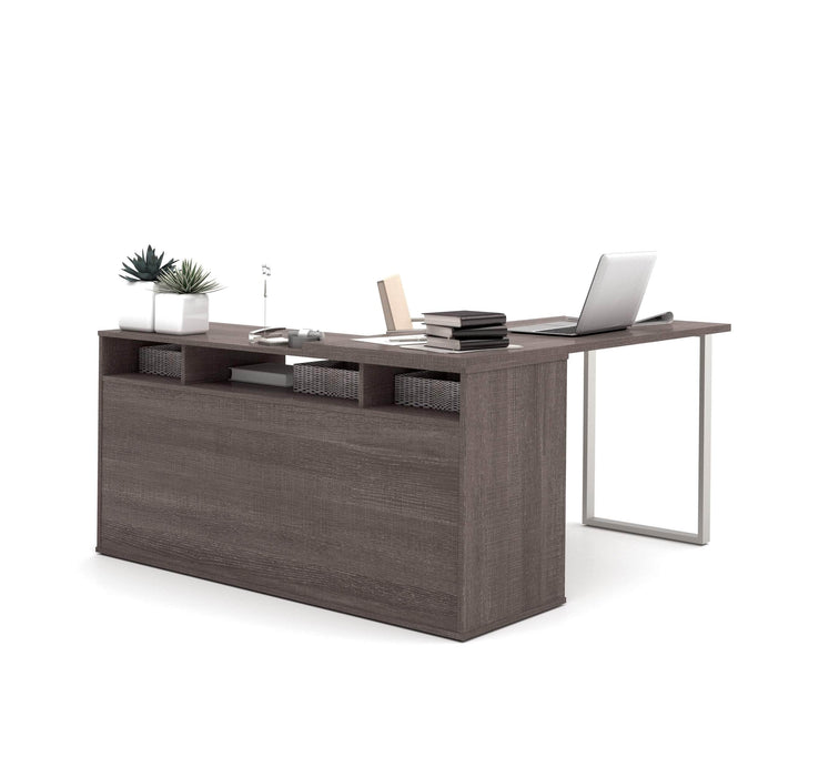 Modubox Desk Solay Contemporary 3-Piece Set Including an L-Shaped Desk, a Lateral File Cabinet and a Bookcase - Available in 2 Colors