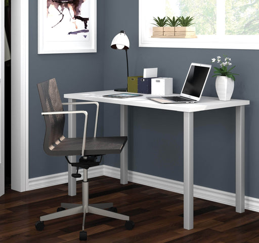 "Modubox Desk Universel 24"" x 48"" Table Desk with Square Metal Legs - Available in 10 Colors"