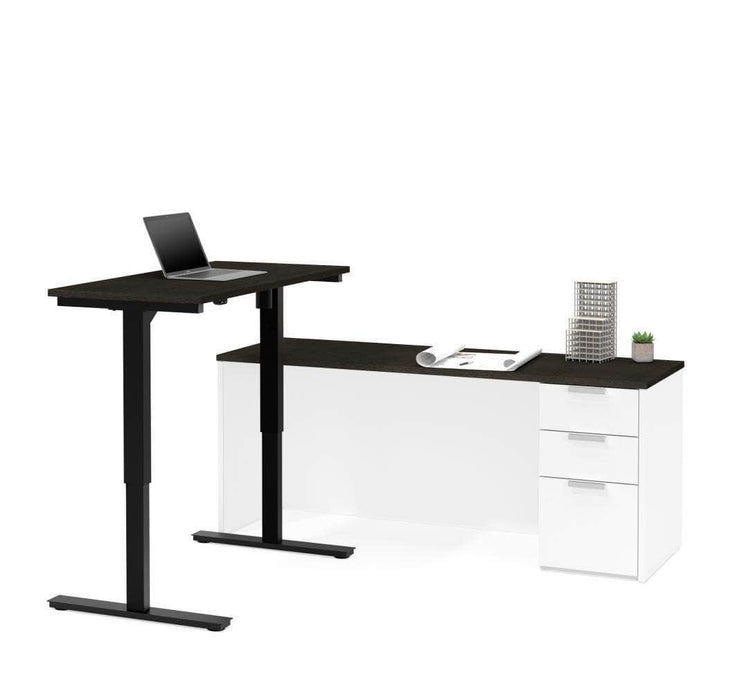 Modubox Desk White & Deep Grey Pro-Concept Plus 2 Piece Set Including a Standing Desk and a Desk - Available in 2 Colours
