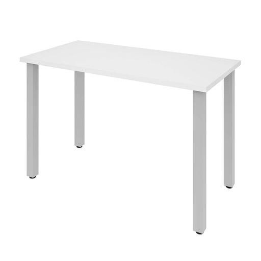 "Modubox Desk White Universel 24"" x 48"" Table Desk with Square Metal Legs - Available in 10 Colors"