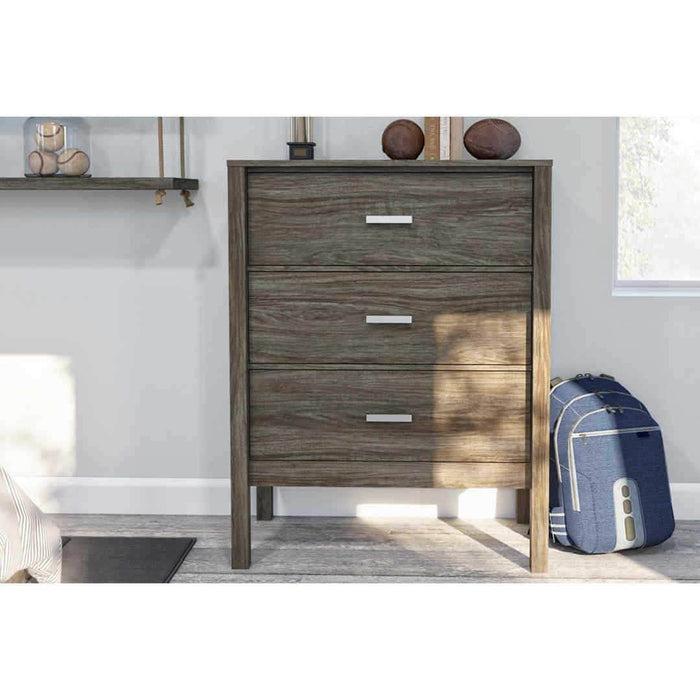 Modubox Dresser Walnut Grey Capella Dresser - Rustic Brown