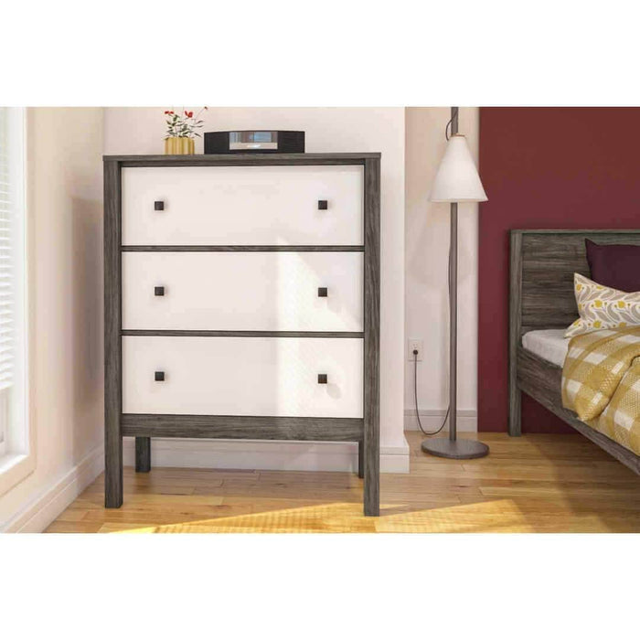 Modubox Dresser Walnut Grey & White Capella Dresser - Rustic Brown