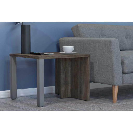 Modubox End Table Walnut Grey Lucida End Table - Rustic Brown