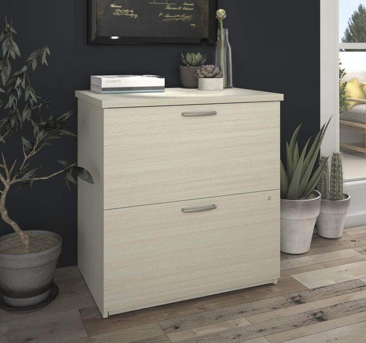 Modubox File Cabinet White Chocolate Logan Lateral File Cabinet - Available in 5 Colors