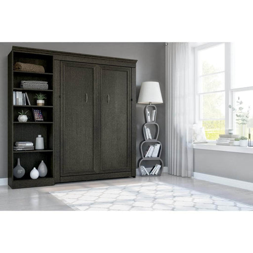 Modubox Full Murphy Bed Deep Grey Evolution Full Murphy Wall Bed and One Storage Unit  - Deep Grey
