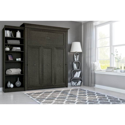 Modubox Murphy Wall Bed Deep Grey Evolution Queen Murphy Wall Bed and One Storage Unit - Deep Grey