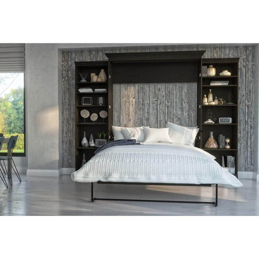 Modubox Murphy Wall Bed Deep Grey Evolution Queen Murphy Wall Bed and Two Storage Units  - Deep Grey