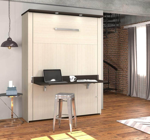 Modubox Murphy Wall Bed Lumina Queen Murphy Bed with Desk