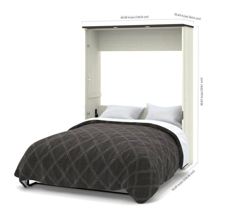 Modubox Murphy Wall Bed Lumina Queen Murphy Bed with Desk and 1 Storage Unit