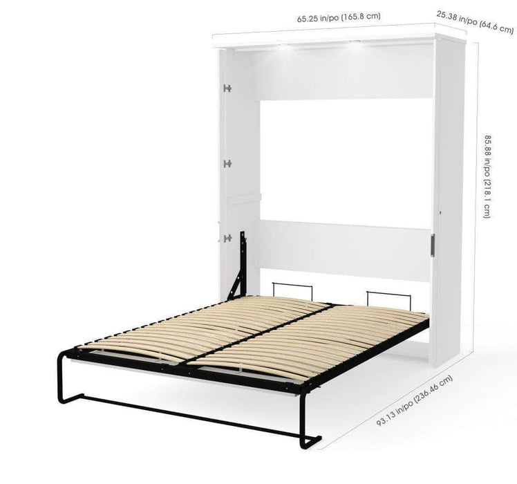 Modubox Murphy Wall Bed Lumina Queen Size Wall Murphy Bed