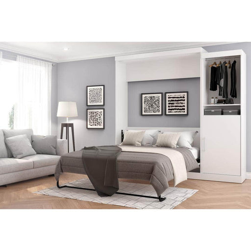 "Modubox Murphy Wall Bed Nebula 90"" Set including a Queen Wall Bed and One Storage Unit - Available in 4 Colors"