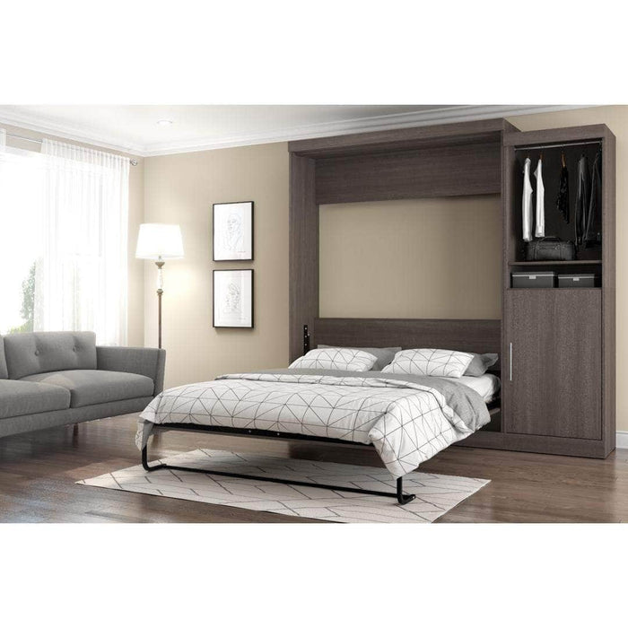 "Modubox Murphy Wall Bed Nebula 90"" Set including a Queen Wall Bed and One Storage Unit - Available in 4 Colours"