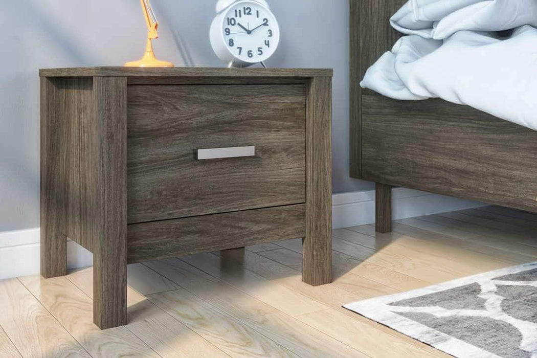 Modubox Nightstand Walnut Grey Capella Nightstand - Rustic Brown