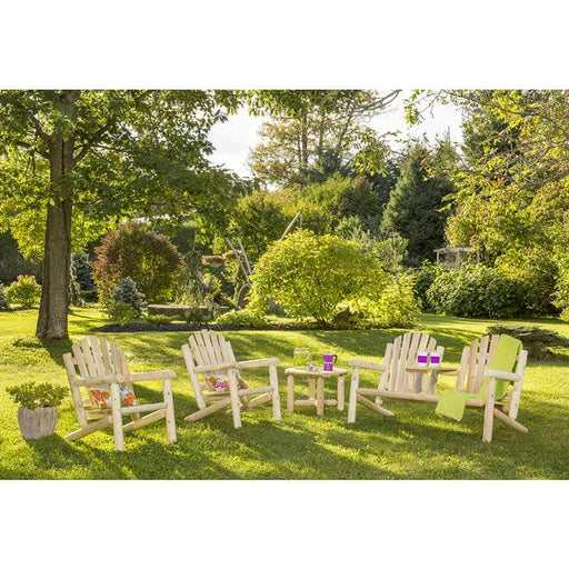 Modubox Patio Conversation Set Natural Cedar Outdoor Cedar White Cedar Elite 4-Piece Conversation Set - Natural Cedar