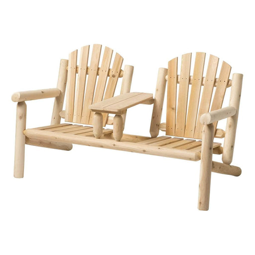 Modubox Patio Conversation Set Natural Cedar Outdoor Cedar White Cedar Premium 3-Piece Conversation Set - Natural Cedar