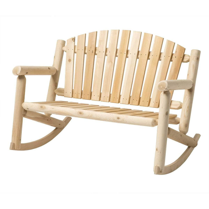 Modubox Patio Settee Natural Cedar Outdoor Cedar White Cedar 4' Settee Rocker - Natural Cedar