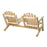 Modubox Patio Settee Natural Cedar Outdoor Cedar White Cedar Elite Settee - Natural Cedar