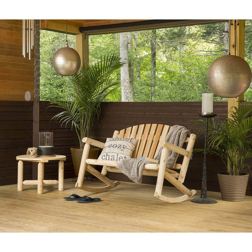Modubox Patio Settee Natural Cedar Outdoor Cedar White Cedar Settee Rocker and Coffee Table Set - Natural Cedar