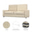 Modubox Sofa Universel Sofa for Queen Murphy Bed (No Backrest) - Available in 2 Colors