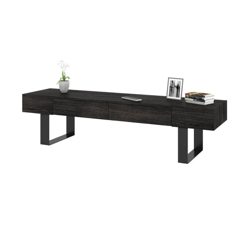 Lyra TV Stand - Black Oak