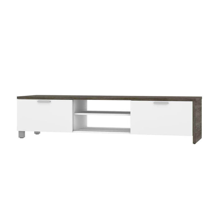 Modubox TV Stand Lucida TV Stand - Rustic Brown & White
